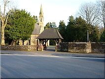 SP0979 : Christ Church's lychgate and boundary wall by Richard Law
