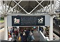 NT9953 : Historical information at Berwick Station by Jonathan Hutchins