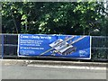 SJ9043 : Railway information banner by Jonathan Hutchins