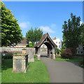 ST2223 : Wilton: churchyard and lychgate by John Sutton