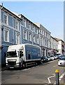 ST3088 : Wetherspoon lorry, Bridge Street, Newport by Jaggery