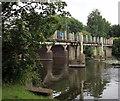 SP2053 : Footbridge across River Avon by PAUL FARMER