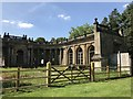 SJ8640 : Remains of Trentham Hall: the Grand Entrance and Orangery by Jonathan Hutchins