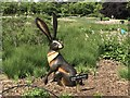 SJ8640 : Bronze hare at Trentham Gardens by Jonathan Hutchins