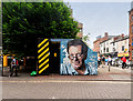 SJ8498 : Mr Manchester on Tib Street by David Dixon