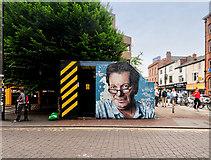 SJ8498 : Mr Manchester on Tib Street by David Dixon