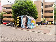 SJ8498 : Tib Street Substation and Multi-storey Car Park by David Dixon