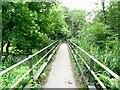 SD7312 : Footbridge over Bradshaw Brook by Philip Platt