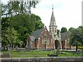SK4937 : Stapleford Cemetery chapels by Alan Murray-Rust