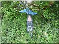 SD4762 : Sustrans milepost, Lancaster by Stephen Craven