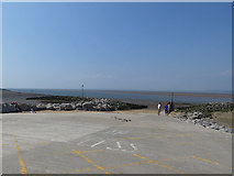 SD4364 : Lifeboat slipway, Morecambe   by Stephen Craven