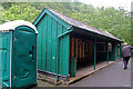 SH6806 : Nant Gwernol Station by Chris Allen