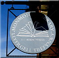 SO5112 : Monmouth Library name sign, Whitecross Street, Monmouth by Jaggery