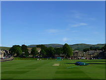 SD6592 : Sedbergh School cricket ground by James T M Towill