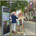 SU4829 : Artist at work, Great Minster Street, Winchester by Robin Drayton