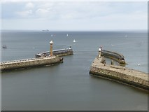 NZ8911 : Entrance to Whitby Harbour by Oliver Dixon