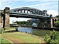 NZ3957 : Monkwearmouth Railway Bridge, Sunderland by G Laird