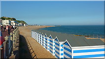 TQ8109 : Beach Huts on Pelham Beach, Hastings by Richard Cooke
