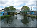SP0482 : Contractor's footbridge, Worcester & Birmingham Canal by Christine Johnstone