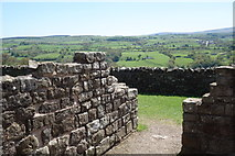 NY5764 : View South from Banks East Turret by Peter Jeffery