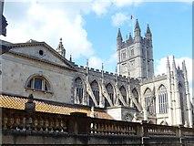 ST7564 : Bath Abbey and Bath Baths by Michael Dibb