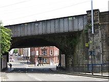 NZ2564 : Railway bridge over City Road / Melbourne Street, NE1 by Mike Quinn