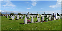 ND3094 : Lyness Naval Cemetery by Anne Burgess