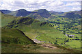 NY2419 : SW side of Cat Bells. by Ian Taylor