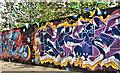 J3373 : Decorated hoarding, Belfast - June 2018(1) by Albert Bridge