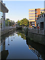 TL7106 : Chelmsford: reflections and evening light by John Sutton