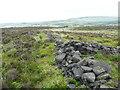 SE0412 : Old wall junction, Dirker Heys, Marsden by Humphrey Bolton