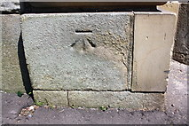SE0523 : Benchmark on #9 Town Hall Street (Hollins Mill Lane face) by Roger Templeman