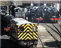 SE0336 : Keighley and Worth Valley Railway's maintenance yard (2) by Ceri Thomas