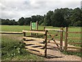 SJ8640 : Kissing gate into dog exercise area by Jonathan Hutchins
