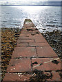 NS1962 : Knock Castle slipway by Thomas Nugent