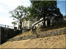 TG2308 : View up the steep castle mount by Evelyn Simak