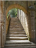 SE2768 : Staircase at Fountains Abbey by pam fray