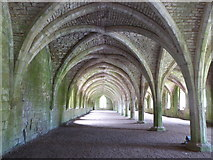 SE2768 : The cellarium, Fountains Abbey by pam fray
