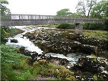 SE0063 : Footbridge over River Wharfe at Linton Falls, Grassington by pam fray