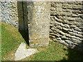 SU0091 : Benchmark, St Leonard's Church, Upper Minety, Malmesbury by Brian Robert Marshall
