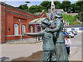 W7966 : Annie Moore Statue outside Cobh Heritage Centre by David Dixon