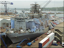 SW8132 : RFA Argus - Falmouth Dry Docks by Chris Allen