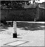 TG2308 : Canon bollard in the Cathedral Close by Evelyn Simak
