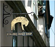 TG2308 : Elm Hill Craft Shop (sign) by Evelyn Simak