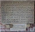 SO8629 : Deerhurst - Odda's Chapel - Reproduction of Dedication Stone by Rob Farrow