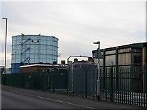TQ0202 : Gas holder on Bridge Road, Littlehampton by David Howard