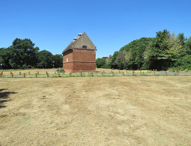 SK5434 : Clifton Green and dovecote by John Sutton