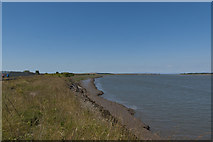 SD3444 : The bank of the Wyre estuary looking downstream by Ian Greig
