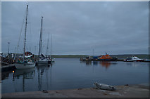 HU4741 : Summer Evening at Lerwick Harbour, Shetland by Andrew Tryon