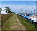 TM4249 : Boats at Orford Sailing Club by Mat Fascione